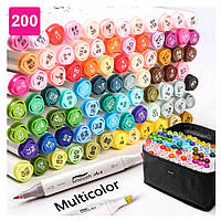 Набор двусторонних маркеров Touch для рисования и скетчинга на спиртовой основе 200 штук