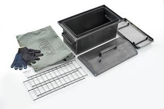 Коптильня з гідрозатворів для гарячого копчення товщина металу 2мм з чохлом і рукавичками
