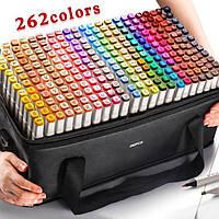 Набор двусторонних маркеров Touch для рисования и скетчинга на спиртовой основе 262 цвета
