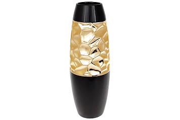 Ваза керам. h-38см, чорно-золотий декор №733-338/Bonadi/(8)