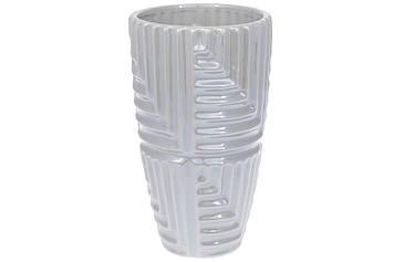 Ваза керам. h-22,5см, сірий перламутр №733-340/Bonadi/(16)