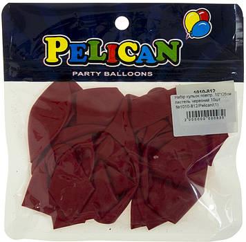 """Набір кульок повітр. 10""""/26см пастель червоний 10шт №1010-812/Pelican/(1)"""