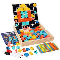 Деревянная развивающая обучающая игрушка мозаика
