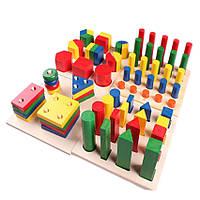 Детская деревянная развивающая игрушка Монтессори 13 в 1 подарок для мальчика и девочки