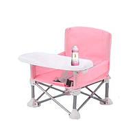 Складаний тканинний стіл для годування Baby Seat Рожевий