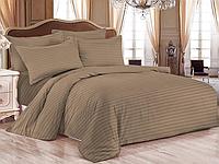 """Евро постельное белье """"Элит"""" 200х220 цветной страйп-сатин люкс (15465), фото 1"""