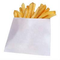 Пакет для картоплі фрі, білий жирост, 40г/м2, 110х110х30, 0+0 (1ящ. = 2000 шт)