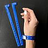 Синий контрольные виниловые браслеты на руку с логотипом для контроля посетителей (DarkBlue16mm)