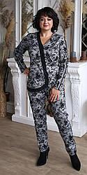Женский брючный костюм серого цвета (50-56 р)