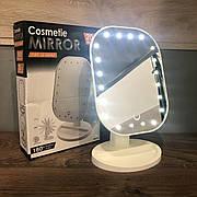 Зеркало c подсветкой LED для макияжа Cosmetie Mirror настольное сенсорное светодиодное без искажений