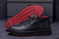 Зимние мужские кроссовки, кожаные ботинки для мужчин зима