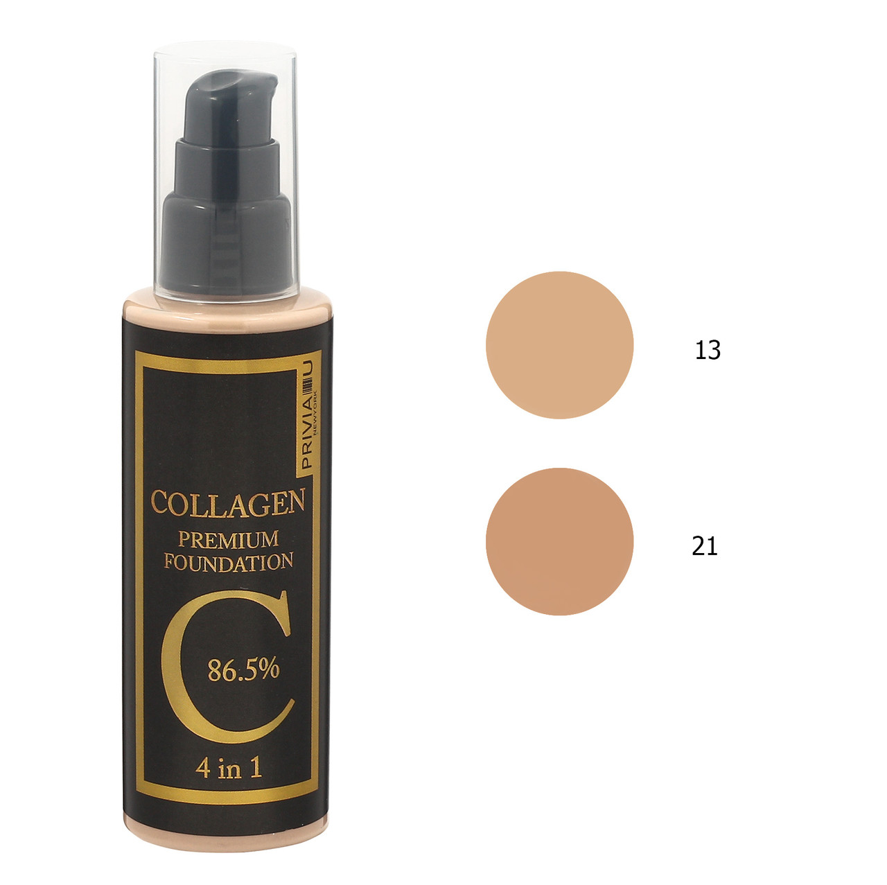 Тональный крем PRIVIA U Collagen Premium Foundation 4 в 1 100 мл