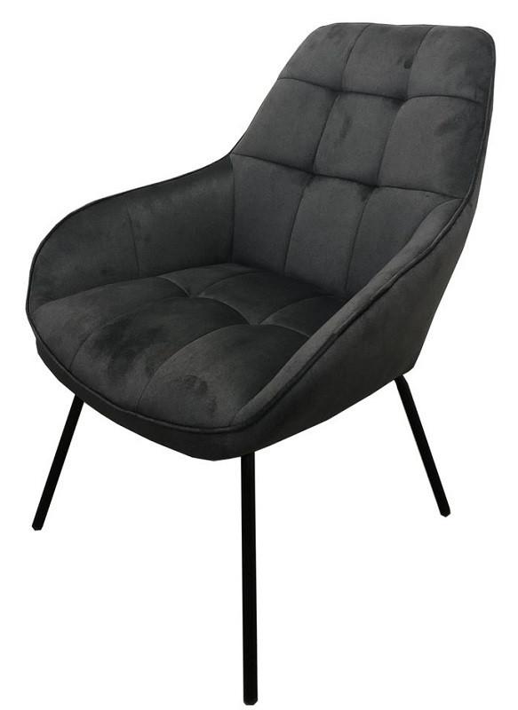 Кресло лаунж Morgan серый графит (112926) велюр Concepto