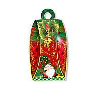 Новогодняя упаковка коробка на конфеты Фонарь гном