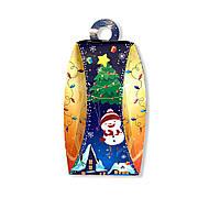Новогодняя упаковка коробка на конфеты Фонарь снеговик