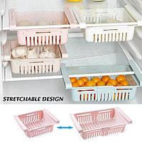 Раздвижной пластиковый контейнер для хранения продуктов и мелочей