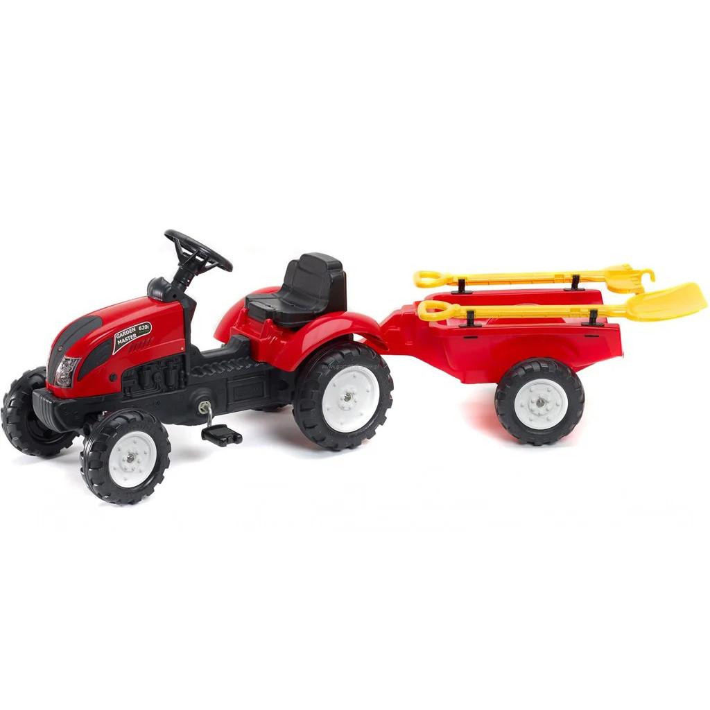 Детский педальный трактор с прицепом Falk 2058G GARDEN MASTER 2-5 лет