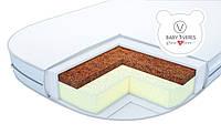 Coconut+Elastic foam Матрас для новорожденных Veres