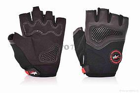 Перчатки вело  PRO BIKER  без пальцев, XL, черные