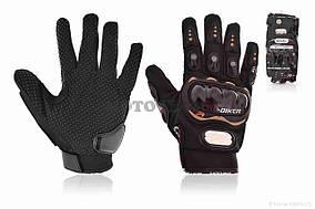 Перчатки мото  PRO BIKER  #MCS-01, L, черные