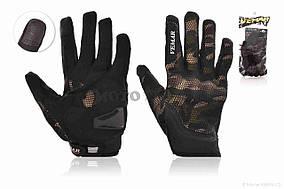 Перчатки мото  VEMAR  #VE-173, сенсорный палец, XL, хаки