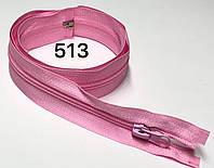 Молния спиральная Розовый 100см Тип 5 с одним бегунком разъемная