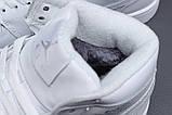 Зимние женские кроссовки 31551, Nike Air Jordan (мех), белые, [ 36 40 ] р. 36-23,5см., фото 6