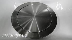 Кришка - люк з нержавіючої сталі для сміття, врізна в стільницю 210 мм