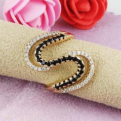 Кольцо Xuping Jewelry размер 18,5 Аиша медицинское золото позолота 18К А/В 2-0272