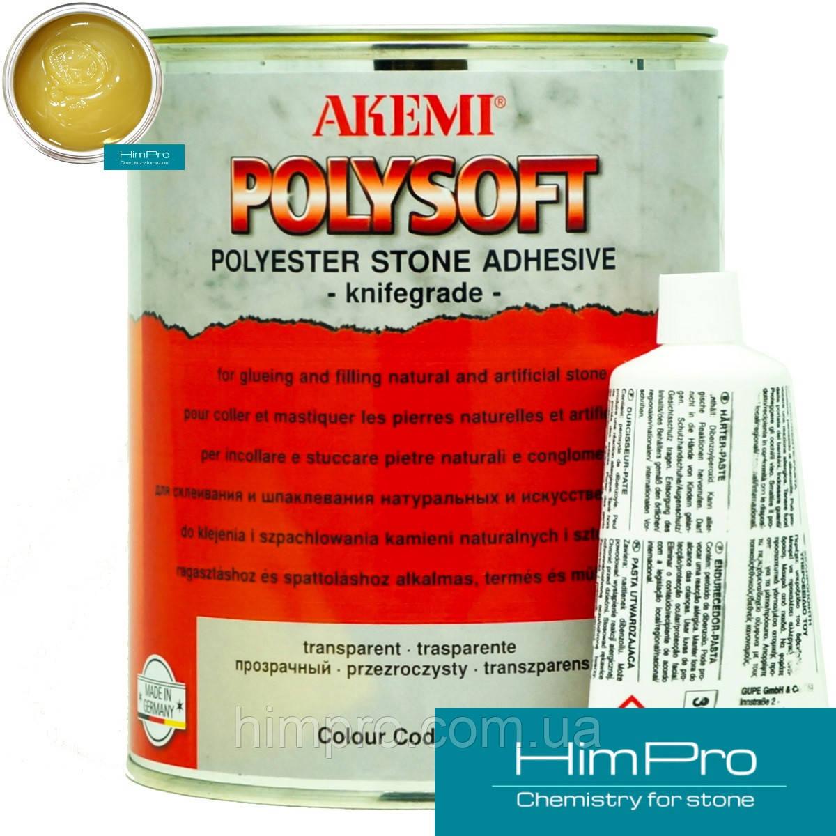 POLYSOFT Akemi Полиэфирный двух-компонентный клей геле-образный (медок 1кг) Акеми