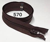 Молния спиральная Темно коричневый 90см Тип 5 разъемная с одним бегунком
