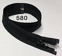 Молния спиральная Черный 90см Тип 5 разъемная с одним бегунком