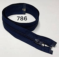 Молния спиральная Синий 90см Тип 5 разъемная с одним бегунком