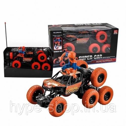 Игрушка машина-джип с человеком пауком 8-колёсный №ZR 2076 SUPER-CFR (33.18)см.