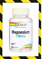 Solaray, Магний Хелатный (в виде аминокислотного хелатного комплекса магния) 200 мг, 100 веганкапсул, фото 1