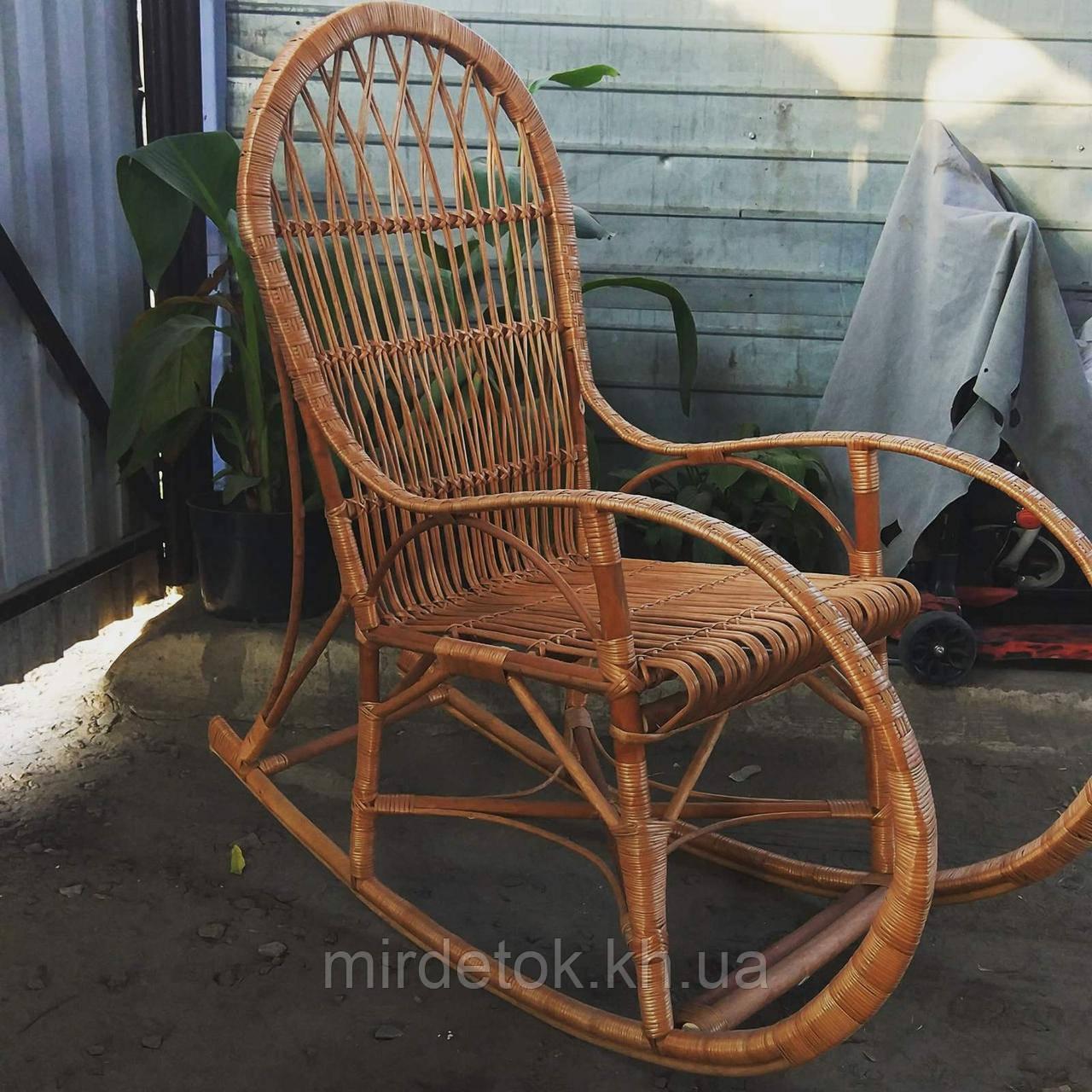Кресло-качалка из лозы Принцесса