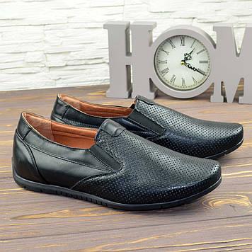Туфли мужские кожаные, цвет черный