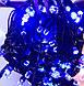 Гирлянда черный шнур хрусталь 200 LED  синяя, фото 2