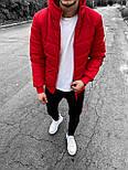 😜 Куртка - Мужскаяя красная куртка на молнииc с капюшоном, фото 2