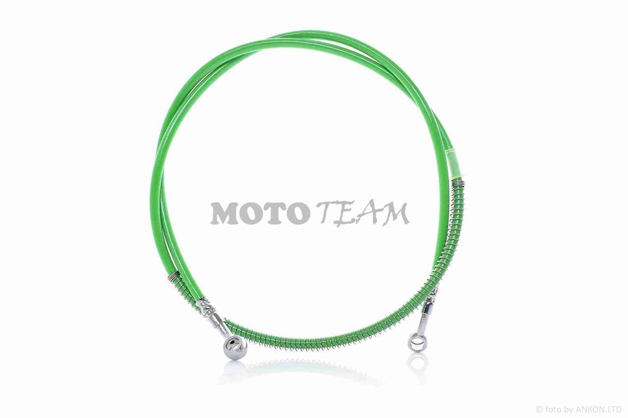 Шланг тормозной гидравлический  перед, армированный, 1500mm, зеленый