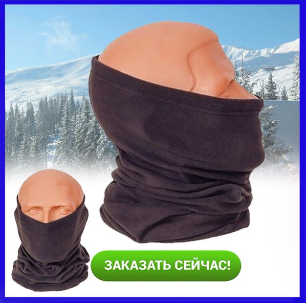 Баф на флисе, маска утепленная балаклава, полубалаклава