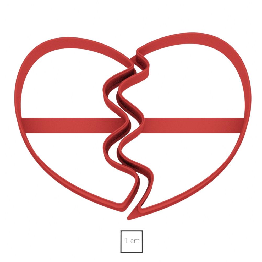 Висічка для пряників у формі розбитого серця