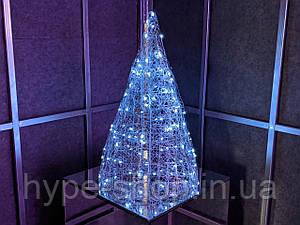 Елка металлическая с гирляндой, железная, лофт, loft, питание от сети 220ВТ, 100 LED, 45 см., настольная.