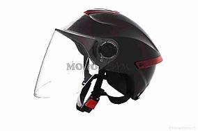 Шлем открытый  DAVID  (#307, с регулятором размера L-XXL, black)