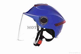 Шлем открытый  DAVID  (#307, с регулятором размера L-XXL, blue)
