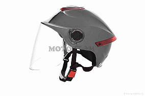Шлем открытый  DAVID  (#307, с регулятором размера L-XXL, dark grey)