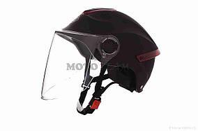 Шлем открытый  DAVID  (#307, с регулятором размера L-XXL, mute black)