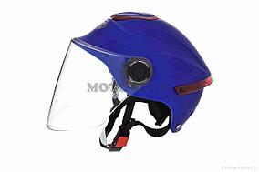 Шлем открытый  DAVID  (#307, с регулятором размера L-XXL, mute blue)