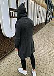 😜 Мужской кардиган серый длинный, фото 2