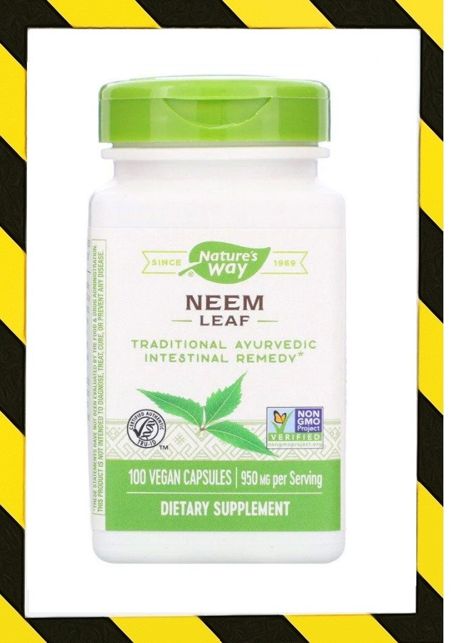 Nature's Way, Ним (лист) Neem Leaf, 950 mg, 100 веган капсул